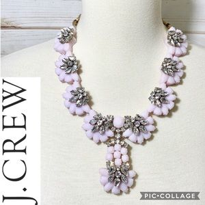 J. Crew exclusive crystal color flower necklace